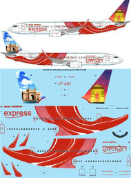 1/144 Scale Decal Air India Express Boeing 737-800 VT-AXH