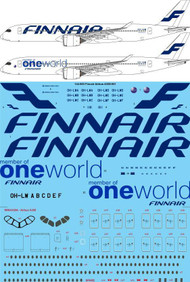 1/144 Scale Decal Finnair Airbus A350-941