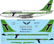 1/200 Scale Decal Transavia Holland Boeing 737-200