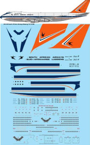1/200 Scale Decal South African Airways Boeing 747-244B