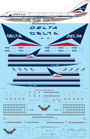 1/200 Scale Decal Delta Boeing 747-132