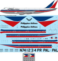 1/200 Scale Decal Philippine Airlines Boeing 747-2F6B