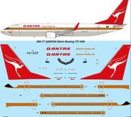 1/200 Scale Decal QANTAS Retro Boeing 737-838