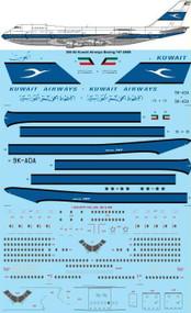 1/200 Scale Decal Kuwait Airways Boeing 747-269B