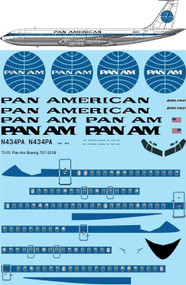 1/72 Scale Decal Pan Am Boeing 707-321B