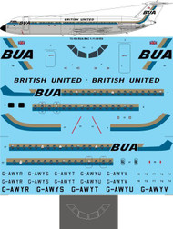 1/72 Scale Decal BUA British United BAC 1-11-501EX