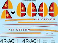 1/72 Scale Decal Air Ceylon Lockheed Super Constellation