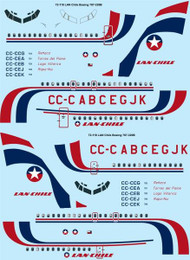 1/72 Scale Decal LAN Chile Boeing 707-320B