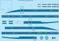 1/72 Scale Decal Argentinian Air Force Boeing 707-320C