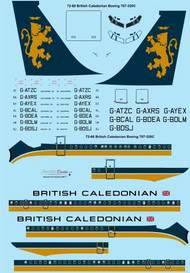 1/72 Scale Decal British Caledonian 1970s Boeing 707-320C