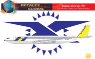 1/144 Scale Decal Sudan Airways 707