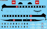 1/72 Scale Decal BEA Red Square Vickers Viscount 700