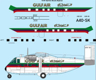1/72 Scale Decal Gulf Air Shorts Skyliner