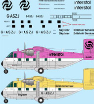 1/72 Scale Decal Interstol / British Air Services Shorts Skyliner/Skyvan