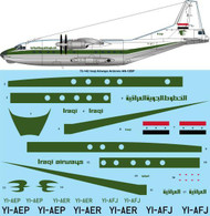 1/72 Scale Decal Iraqi Airways Antonov AN12-BP