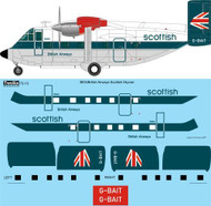 1/72 Scale Decal BEA Speedjack Shorts Skyvan