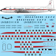 1/72 Scale Decal Braathens SAFE Douglas DC-6B
