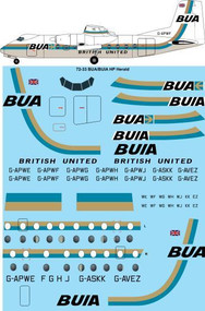 1/72 Scale Decal BUA / BUIA Handley Page HPR-7 Herald