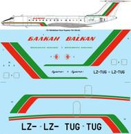 "1/72 Scale Decal Balkan ""Final livery"" Tupolev Tu-134A-3"