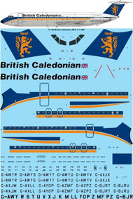 1/72 Scale Decal British Caledonian (final) BAC 1-11-500