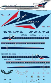 1/72 Scale Decal Delta Boeing 727-232/ADV