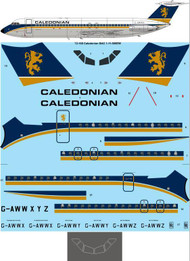 1/72 Scale Decal Caledonian Airways BAC 1-11-509EW