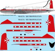 1/72 Scale Decal Malta Metropolitan Douglas C-54D (DC-4)