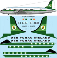 1/72 Scale Decal Aer Turas Ireland Douglas C-54B (DC-4)