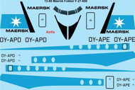 1/72 Scale Decal Maersk Air Fokker F-27-600 Friendship