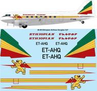 1/48 Scale Decal Ethiopian Airlines Douglas C-47