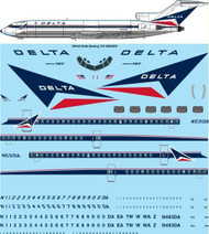 1/100 Scale Decal Delta Boeing 727-200 Adv