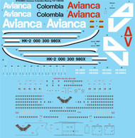 1/200 Scale Decal Avianca Colombia Boeing 747-100/200 (3 schemes)