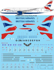 1/200 Scale Decal British Airways Boeing 787-836