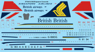 1/144 Scale Decal British Airways & Singapore Airlines Concorde