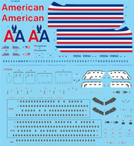 1/144 Scale Decal American 767-200/300