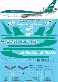 1/144 Scale Decal Air Florida McDonnell Douglas DC-10-30CF