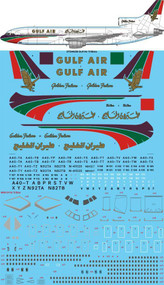 1/144 Scale Decal Gulf Air L-1011 TriStar
