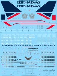 """1/144 Scale Decal British Airways """"Landor"""" Boeing 747-136 & 236"""