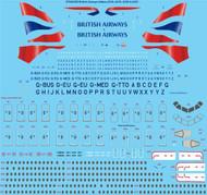 1/144 Scale Decal British Airways Airbus A318, A319, A320, A321
