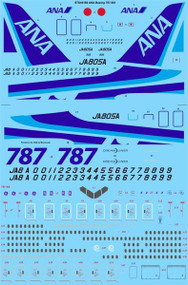 1/144 Scale Decal ANA All Nippon Boeing 787-881 Dreamliner