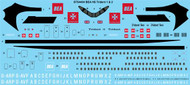 1/144 Scale Decal BEA Red Square HS Trident 1 & 2