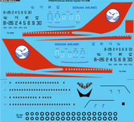 1/144 Scale Decal Sichuan Airlines Tupolev TU-154M