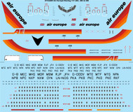 1/144 Scale Decal Air Europe Boeing 737-200/300/400
