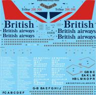 1/144 Scale Decal British Airways Lockheed L-1011 Tristar 1, 200 & 500