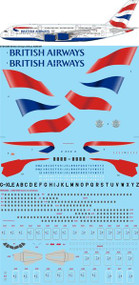 1/144 Scale Decal British Airways Airbus A380-841