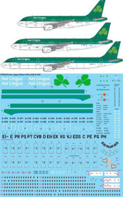 1/144 Scale Decal Aer Lingus Airbus A319 ,A320 & A321