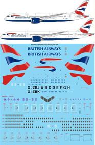 1/144 Scale Decal British Airways Boeing 787-836 / 936