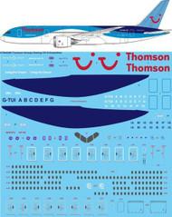 1/144 Scale Decal Thomson Airways Boeing 787-8 Dreamliner