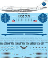 1/144 Scale Decal Pan Am (delivery) Boeing 747-121