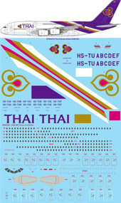 1/144 Scale Decal Thai Airways Airbus A380-841